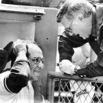George Steinbrenner gives manager Yogi Berra