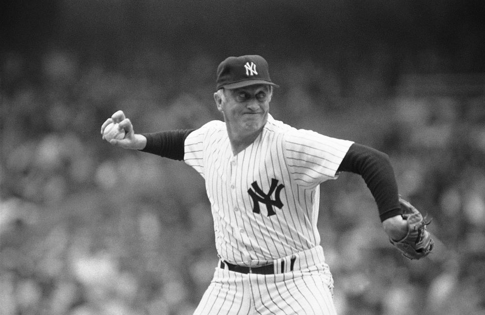 Phil Niekro of the New York Yankees wins his 300th game