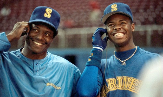 Ken Griffey, Jr. and Ken Griffey, Sr. become the first father-and-son combination to hit back-to-back home runs