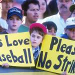 major league players begin a strike that will wipe out the remainder of the season
