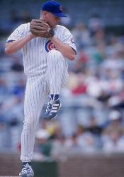 Chicago Cubs rookie Kerry Wood ties a major league record by striking out 20 batters