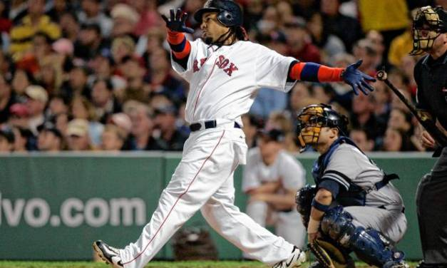 Outbidding the Indians, the Red Sox sign free-agent Manny Ramirez to a reported eight-year, $160 million contract