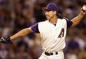 For the fifth straight season, Diamondback southpaw Randy Johnson records 300 strikeouts, breaking his own record of four consecutive years. The feat also ties the 'Big Unit' with Nolan Ryan, having a total of six 300 strikeout seasons.