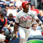 Ryan Howard belts three homers in the first game of a doubleheader, giving him 50 for the season
