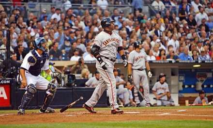 Barry Bonds hit his 755th homer to tie Hank Aaron as the all-time leader in that category