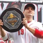 Joey Vottoof theCincinnati Redswins the2010 National League Most Valuable Player Award