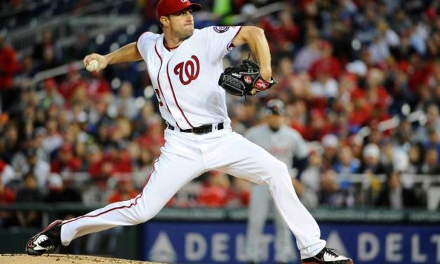 Max Scherzer ties the major league record by striking out 20 batters in a nine-inning game