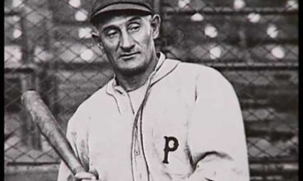 Honus Wagner of the Pittsburgh Pirates becomes the oldest player to hit an inside-the-park home run