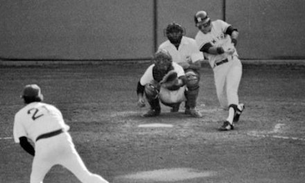 Bucky Dent's unlikely home run helps the New York Yankees defeat the Boston Red Sox in a dramatic one-game playoff