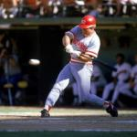 Pete Rose of the Philadelphia Phillies moves into second place on the all-time hit list