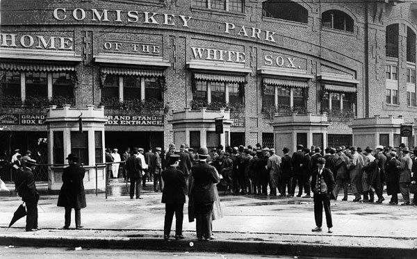Ground is broken in Chicago for Comiskey Park
