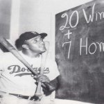 rooklyn Dodgers pitcher Don Newcombe hits two home runs in a 10-8 victory