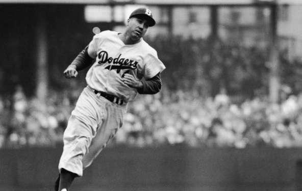Duke Snider hits three home runs at Ebbets Field