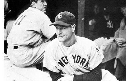 Lou Gehrig's streak of 2,130 consecutive games comes to an end