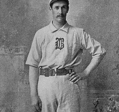 """Charles """"Kid"""" Nichols of the Boston Beaneaters wins his 300th career game"""
