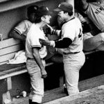 New York Yankees star Reggie Jackson and manager Billy Martin become involved in a dugout confrontation that is seen on national television