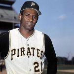 Clemente's uniform number 21 retired by Pirates