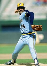 Rollie Fingers of the Milwaukee Brewers becomes the first major leaguer to reach 300 career saves