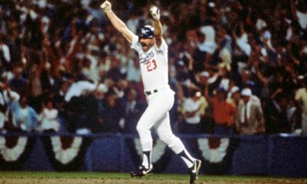 Kirk Gibson hits one of the most dramatic home runs in World Series lore