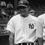 Lou Gehrig removes himself from the New York Yankees' lineup after five innings