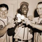 Hank Aaron and Eddie Mathews and outfielder Wes Covington hit back-to-back-to-back home runs against Ron Kline of the Pittsburgh Pirates