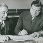 Babe Ruth signs a contract with the Boston Braves