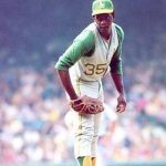 The long holdout of Oakland A's pitching star Vida Blue comes to an end