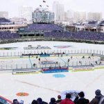 Hockey At Wrigley Field Chicago Black Hawks vs Detroit Red Wings