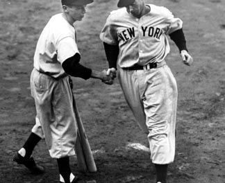 Joe DiMaggio of the New York Yankees undergoes surgery for bone spurs