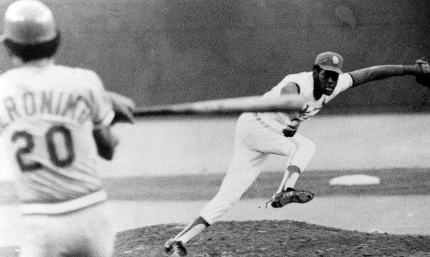 St. Louis Cardinals ace Bob Gibson suffers a broken leg