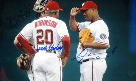 Frank Robinson manages his final game for the Washington Nationals