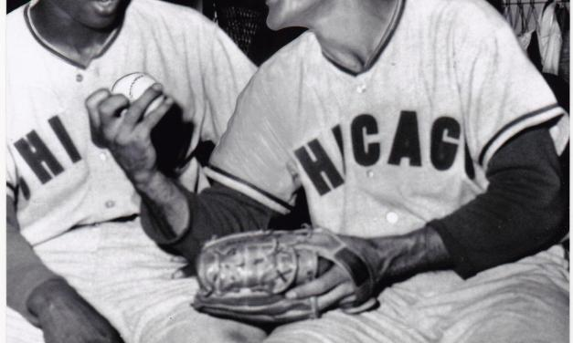 Chicago Cubs coach Ernie Banks becomes the first African American to manage during a major league game