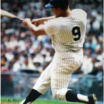 Ken Regan Signed Roger Maris Swinging Vertical Color 16x20 Photo