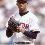 At Fenway Park Pedro Martinez strikes out five of the six batters he faces to win MVP honors Ted Williams delays that start as he throws the first pitch