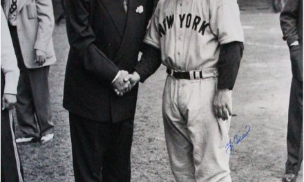 New York Yankees unveil a granite monument to Babe Ruth