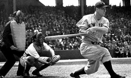 Lou Gehrig of the New York Yankees begins his historic consecutive-game streak