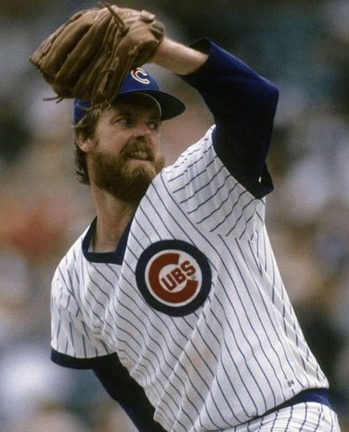 On a frigid Sunday afternoon, Rick Sutcliffe adds to the wind chill, striking out 11 batters in the Cubs' 8-3 win over Pittsburgh. Despite a temperature of 33 degrees, along with a stiff breeze making it feel like eight above, 11,387 fans brave the elements to watch the right-hander's complete-game effort at Wrigley Field.