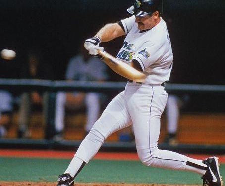 Wade Boggs of the Tampa Bay Devil Rays becomes the first major leaguer to hit a home run for his 3,000th hit