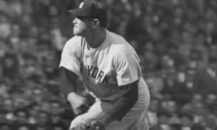 Allie Reynolds of the New York Yankees no-hits the Cleveland Indians