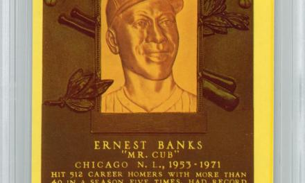 Chicago Cub standout Ernie Banks is elected to the Hall of Fame in his first year of eligibility