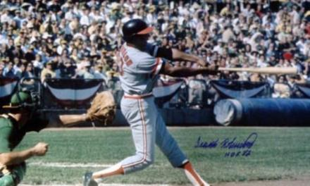 Frank Robinson of the Cleveland Indians makes his final major league appearance as a player