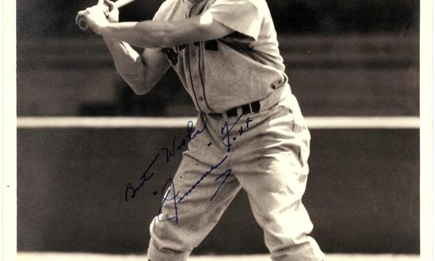 Jimmie Foxx belts the 400th homer of his career