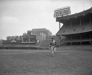 Joe Dimaggio makes his debut in 1949