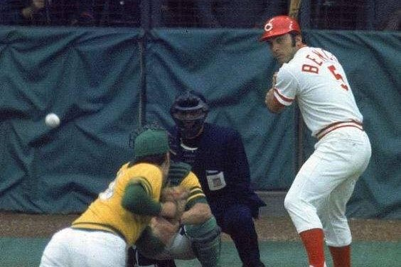 Johnny Bench wins his second NL MVP in the last three years