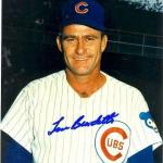 Lou Burdette Chicago Cubs Signed 8x10