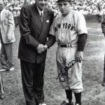 Signed Berra Photograph - 8x10 W Babe Ruth - PSA/DNA Certified