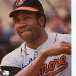 Signed Frank Robinson Picture - Baltimore Ori GA
