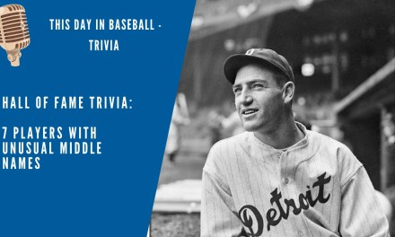 Hall of Fame Middle Name Quiz