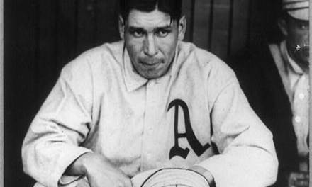 Chief Benderwins his 11th straight for theAthletics, 4 – 2, overCleveland, to tighten the pennant race with theTigers. The Chief is helped by right fielderSocks Seyboldwho pulls off an unassisteddouble play. He'll pull off another onSeptember 10thagainstBoston.