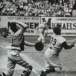 Ebbets Field 1956 Roy Campanella vs Phillies